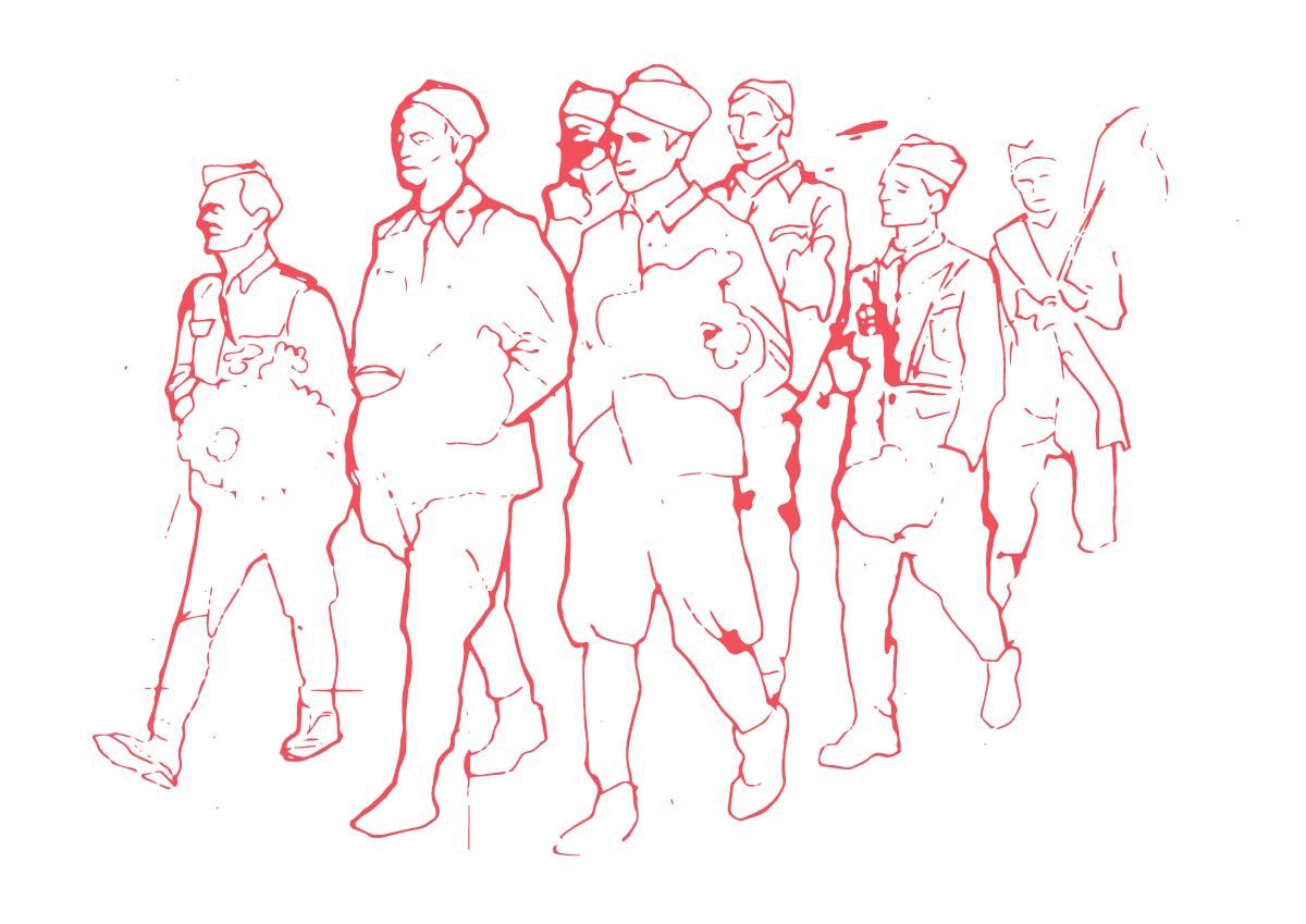 kolona-partizana-ilustracija kurs